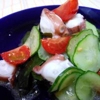モニター商品 ナムルの素で作るアレンジレシピ ちょっと酢を足して 『蛸と胡瓜もみのナムル』