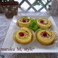 ソーセージのロールケーキ(レンジでふんわり♪)