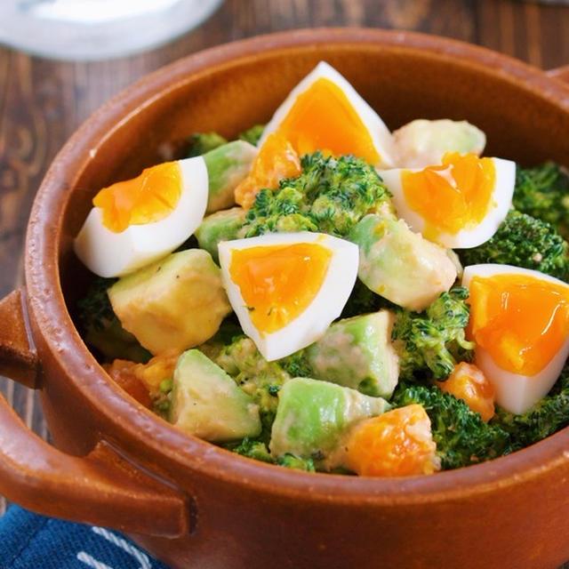 超簡単です♪『ブロッコリーとアボカドと卵のデリ風♡コブサラダ』【#作り置き #副菜】
