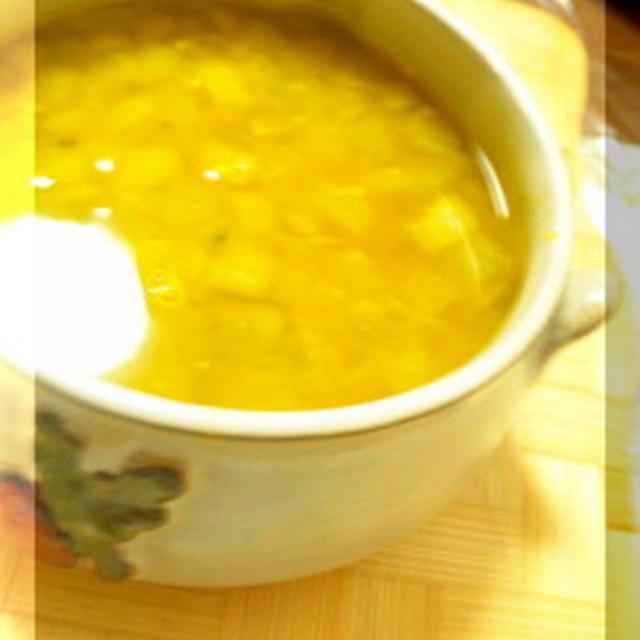 カレー風味でさっぱり☆簡単パンプキンスープ