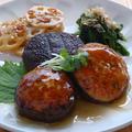 しいたけの肉詰め と 玄米ごはんの定食 by カシュカシュさん