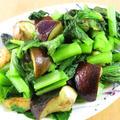 小松菜と茄子のガーリック炒め☆お弁当に♪