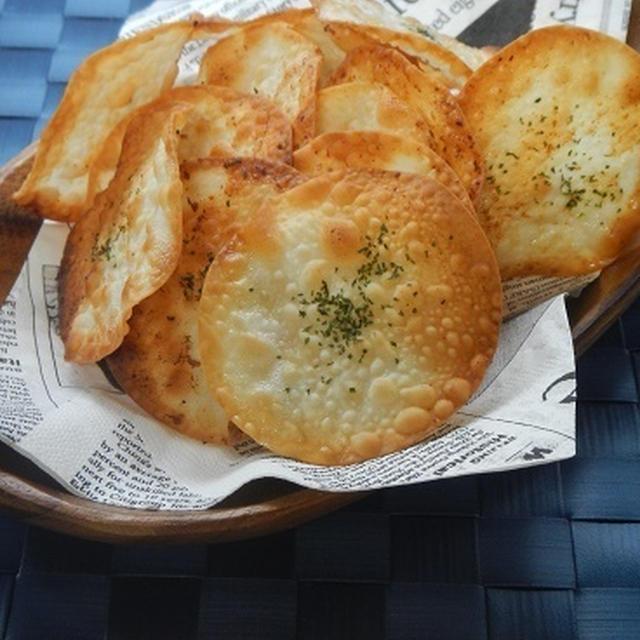 餃子の皮でガーリックトースト風パリパリ