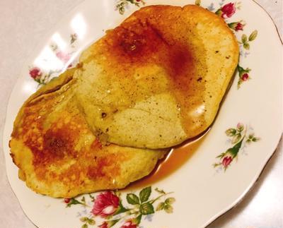 もちもちおやつのバナナ抹茶パンケーキ