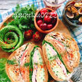 きな粉ブランパンで☆八丁味噌ヨーグルト豚しゃぶのハムぱくサンド by みすずさん