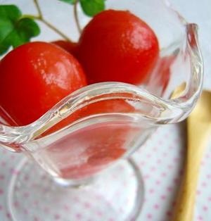 お野菜デザート♪プチトマトのシャーベット