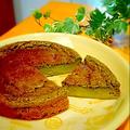 ともさんのワンボウルで☆水切り不要ヨーグルトとHMで簡単抹茶のベークドチーズケーキ~
