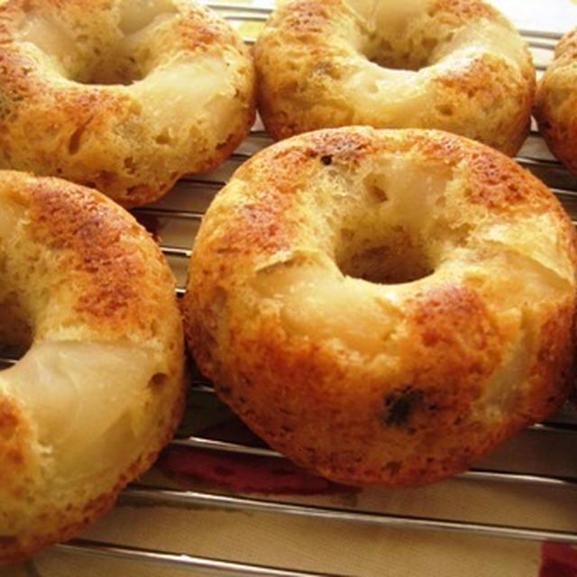 りんごとバナナの焼きドーナツ