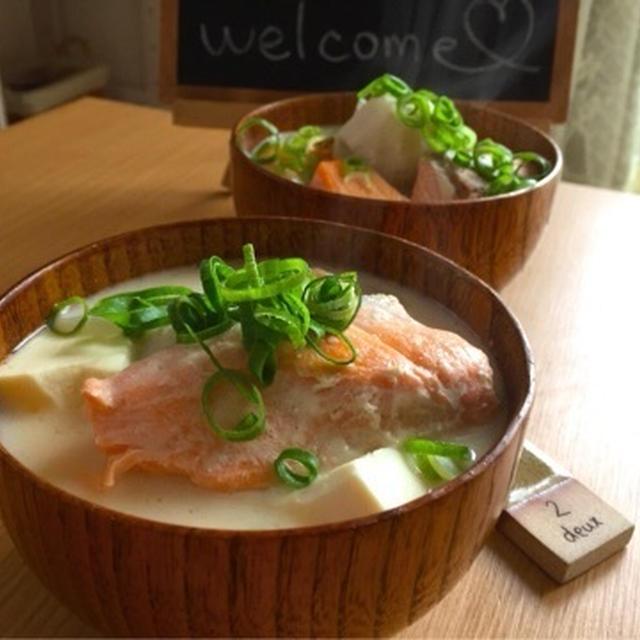 冷蔵庫の残り野菜使用♡温まるぅぅ(爆)♡鮭の粕汁