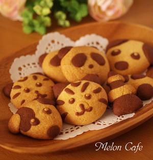 ホットケーキミックス(HM)でつくる、超簡単2色のデコクッキー☆ココア&プレーン(ホワイトデーや毎日のおやつ、プレゼントに)