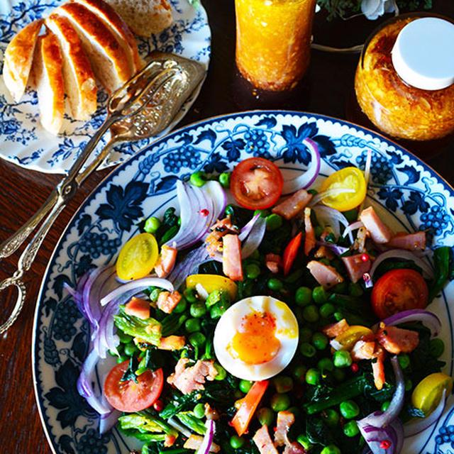 作り置きドレッシングと冷凍野菜で パパッと簡単 温野菜のサラダ