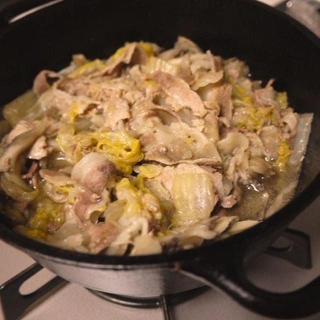 猪肉の白菜蒸し