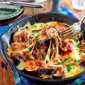 ♡レンジ&トースターで♡なすミートソースのチーズ焼き♡【#簡単レシピ#時短#節約#ひき肉】