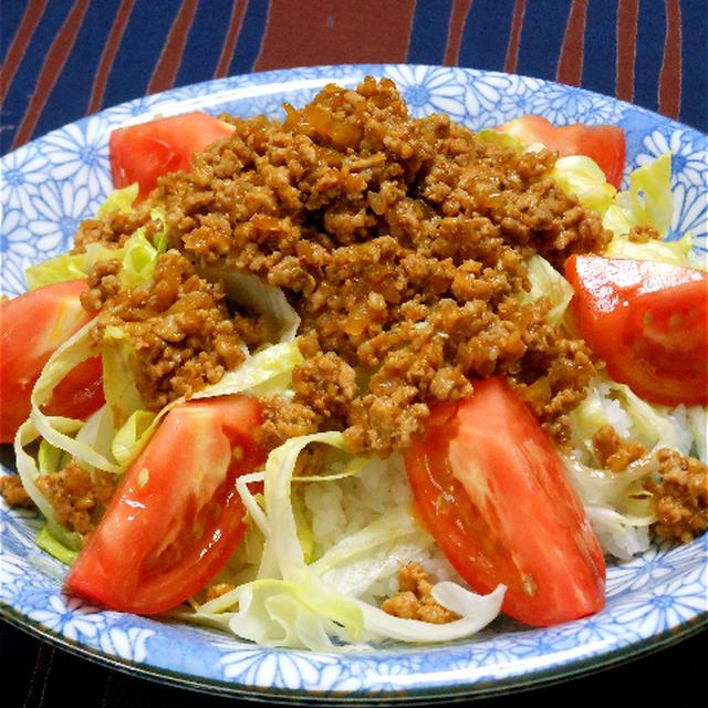 野菜たっぷり、簡単!夜遅ごはんは、うま!ソースで和風タコライス