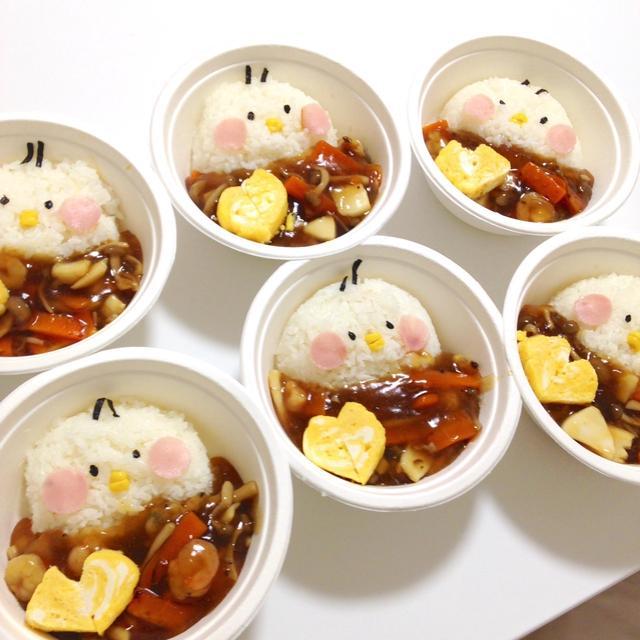 簡単朝ごはん!シーフードミックスの簡単海鮮あんかけ丼で「ヒヨコ丼」