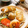 混ぜ混ぜカレー豆腐の海鮮うどん