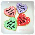バレンタイン♡ハートのアイシングクッキーNO.3