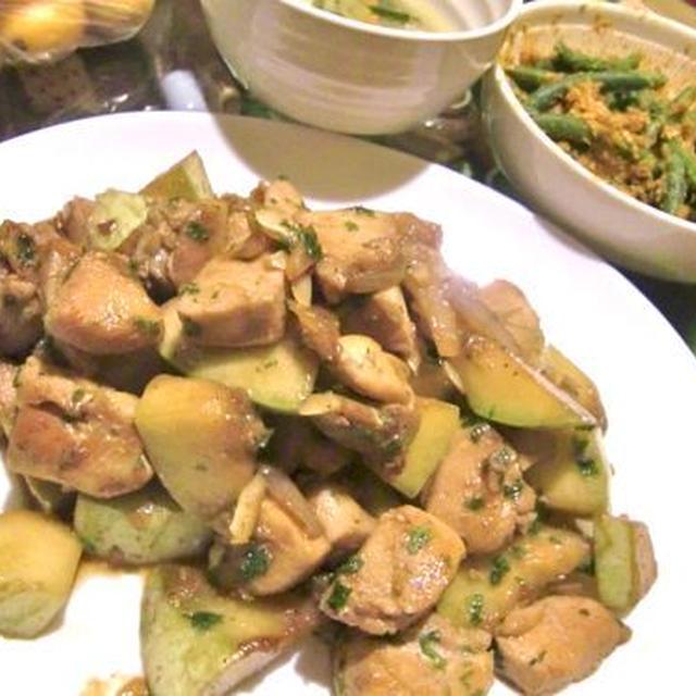 鶏とズッキーニのソテー クミン醤油風味