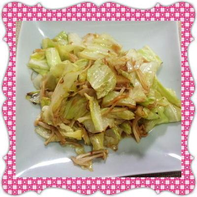 春キャベツとえのきのニンニク醤油炒め(レシピ付)