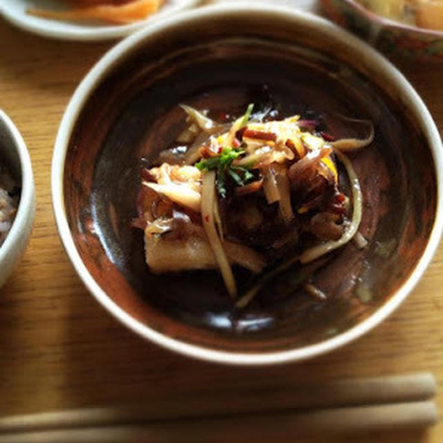 カリカリ豆腐の野菜あんかけと味噌煮込みおでん御膳