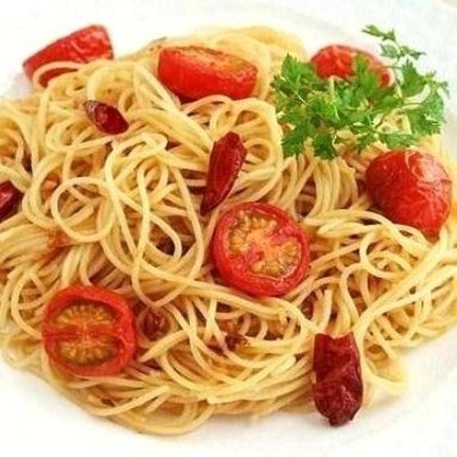 イタリアン味噌と焼トマトのペペロンチーノ