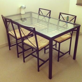<終了>IKEA ダイニングテーブル&椅子4脚セット