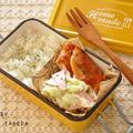 2品同時進行で作る☆鶏むねで!チキンBBQソテーがメインの15分節約お弁当