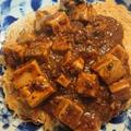 地味に辛い系の麻婆豆腐かた焼きそば
