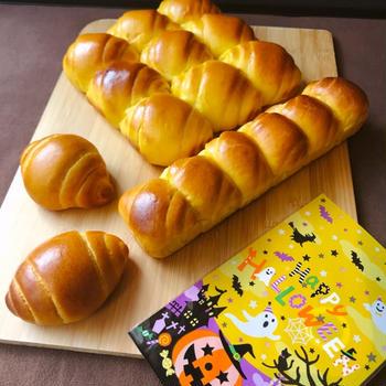 パンプキンロールパン ぎゅうぎゅうロール、リングパン