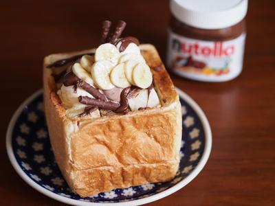 nutella banana shibuya honey toast ヌテラとバナナのハニトー