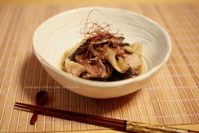 茄子と豚肉のスタミナ重ね煮