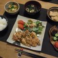 鶏肉のピリ辛照焼の晩ご飯 と 曲げわっぱのお弁当♪