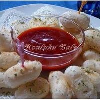トマトディップで食べる『揚げ焼きトッポギ』