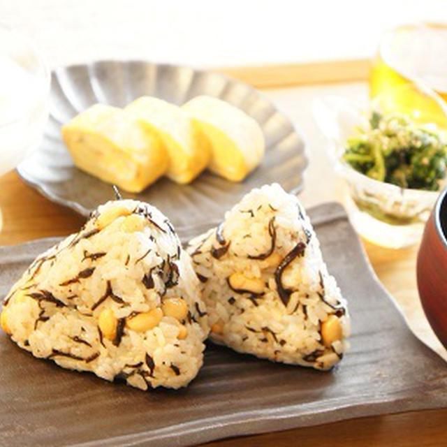 しそ梅でひじきと大豆のおにぎり【レシピ】