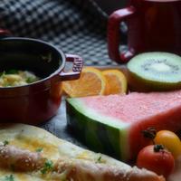 ストウブで「ワンプレート朝ごはん」Wチーズナンドック
