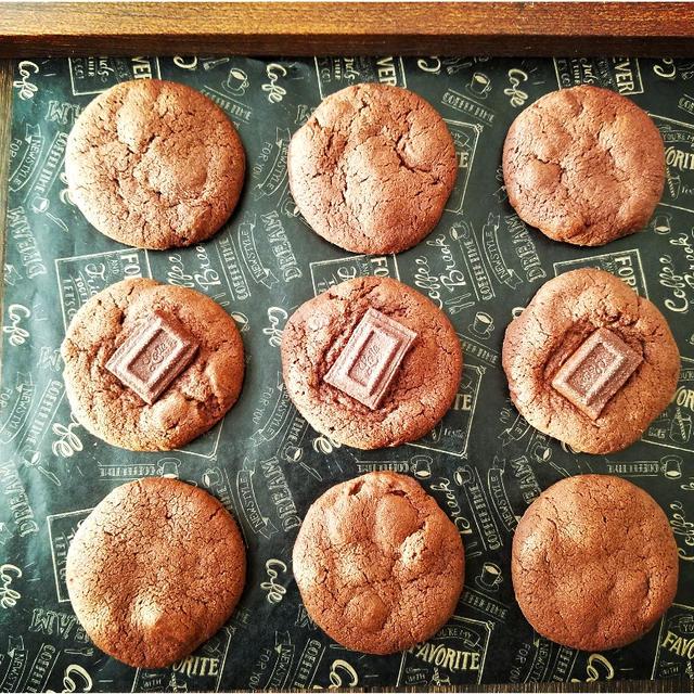 ♡SHOWAの ホットケーキミックスde作る♪サクサク食感Wチョコクッキー♡【バレンタイン】
