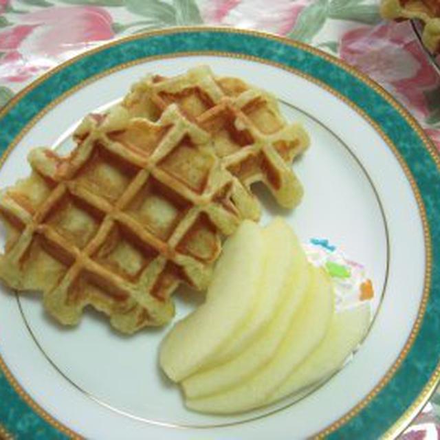 リベンジのリベンジ 林檎ワッフルレシピ
