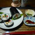節分に豪華巻き寿司☆