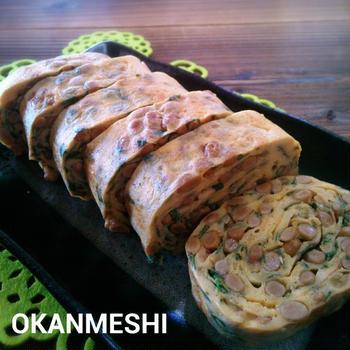 納豆と大葉の玉子焼き