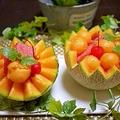 丸ごとメロンでフルーツポンチ&【受賞】 by とまとママさん