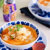 トムヤ厶クン風クリーム豆腐スープ