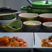 ストウブワナベSで「アンチョビポテト」と「チキンのトマト煮込み」