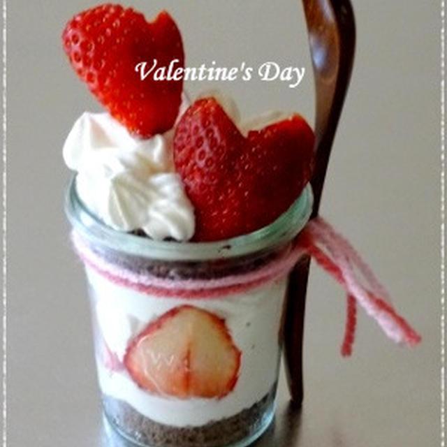 バレンタインに・・weckで作るハートのショートケーキ☆
