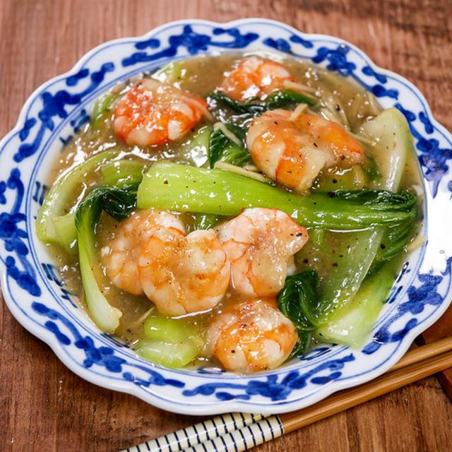 野菜がメイン「海老と青梗菜のあんかけ中華炒め」&「かめきちパパの毎日ご飯連載日でした」
