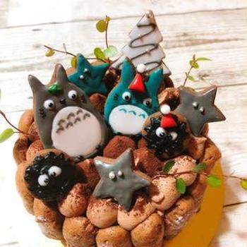クリスマスケーキ☆トトロ ~簡単かわいい♡あっ君ママの手作りおやつ~
