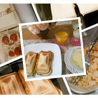 朝食ホットサンド