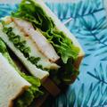 4日目、鶏むね肉のスパイス味噌漬け和風サンド|作り置き+余り野菜|1週間分のお弁当サンドイッチアイディア