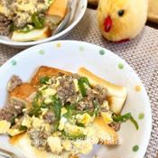 ガパオ卵のおかずフレンチトースト