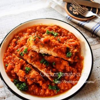 【お知らせ】 鶏肉のトマトカレー煮込み #キュキュットCLEAR泡スプレー*プレゼント企画#
