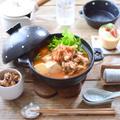 お気に入りの一人鍋でキムチチゲの昼ごはん